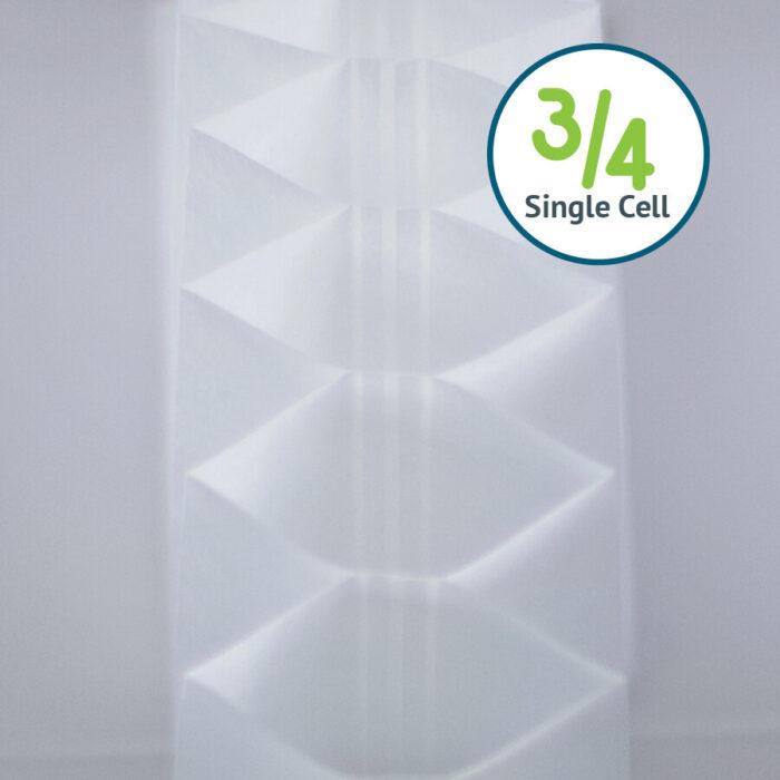 Just Shades Corporation | Cellular Shades & Sliders | 3/4 Single Cell Light Filtering