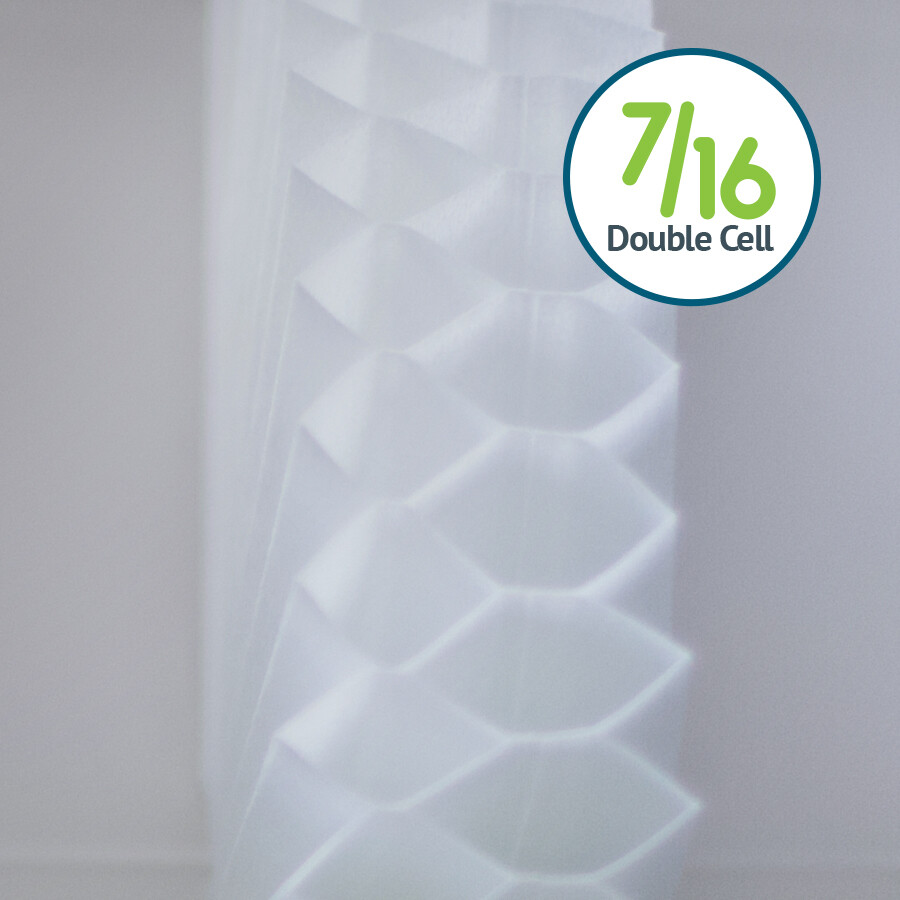 Just Shades Corporation | Cellular Shades | 7/16 Double Cell Light Filtering Fabric