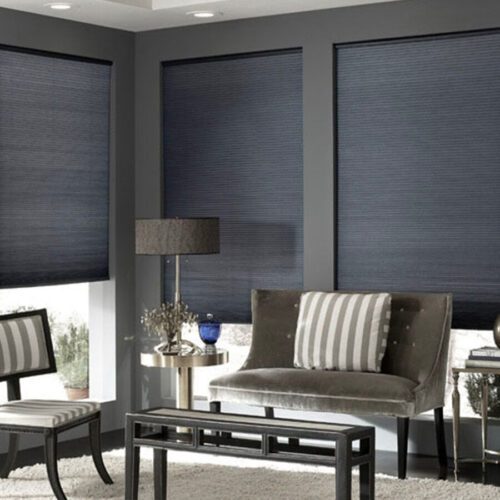 Cellular Shades & Sliders| 9/16 Single Cell Blackout Fire Retardant | Just Shades Corporation