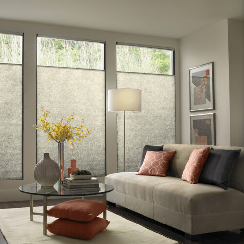 Cellular Shades & Sliders| 9/16 Single Cell Light Filtering Linen | Just Shades Corporation