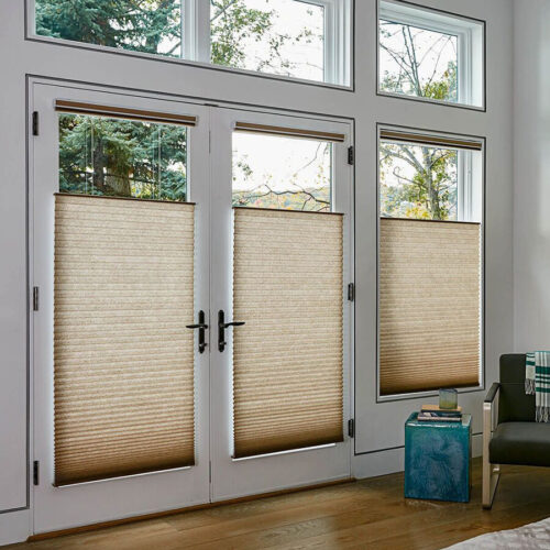 Wholesale Cellular Shades & Sliders | 9/16 Single Cell Light Filtering | Crush Fabric | Just Shades Corporation